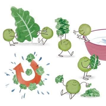 ∫Cooking with Kids: How to Clean and Prep Kale | Kiwi Magazine | 2013 © Anna Raff