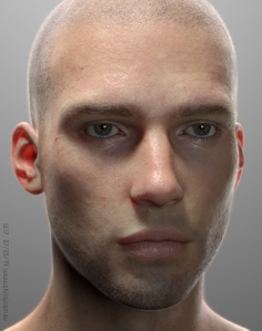∫ 4 D computer graphic generated head.  This breakthrough represents the future of 4D CG  © Chris Jones
