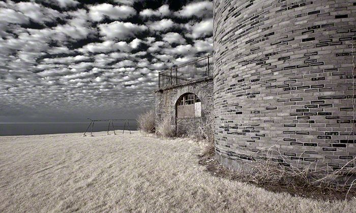 Seaside Tower – Infrared, Seaside Sanatorium, Waterford, Connecticut ©2014 Robert Marsala