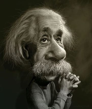 ∫ Albert Einstein Study © Rodney Pike.