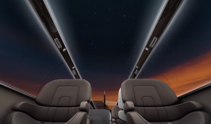 In flight screens with transitions with night theme