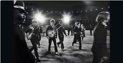 ∫ Jim Marshall, (1936-2010) Beatles at Candlestick, 1966. (Gelatin Silver Print) (Photo Credit Art Museum Website)
