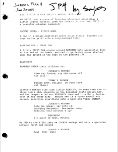 ∫  The first draft of the script for Jurassic Park IV or Jurassic World by John Sayles