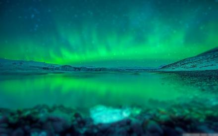 Aurora over Jökulsárlón (Iceland)