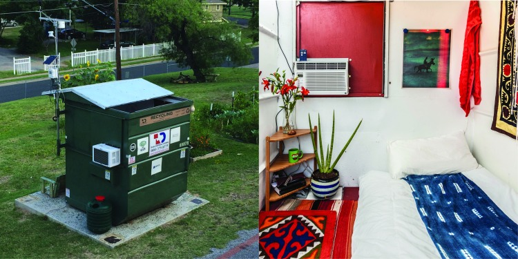 The Dumpster Project on the campus of Huston-Tillotson University