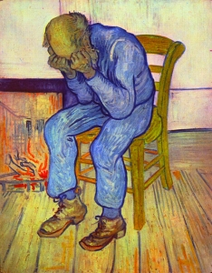 Vincent van Gogh's 1890 painting Sorrowing old man ('At Eternity's Gate')