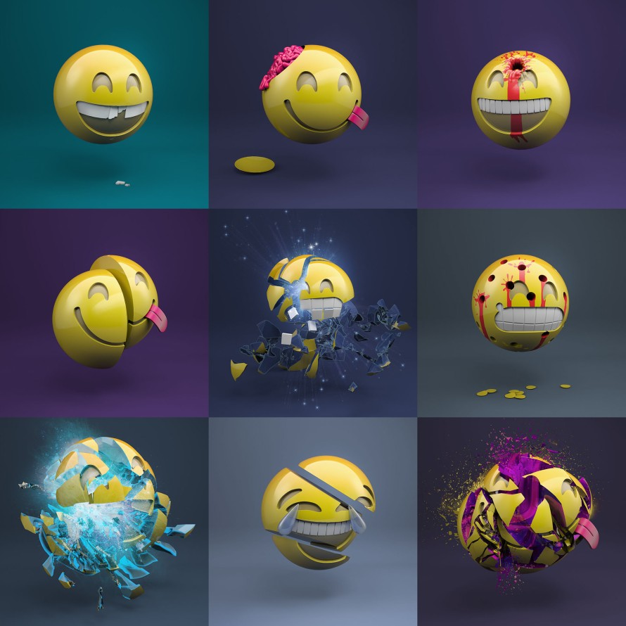 Started this project a few days ago mainly for my instagram account ( instagram.com/tobiaswuestefeld ). Destroying a smiley every day. I don´t know where this will end but I think it can get way heavier than now...