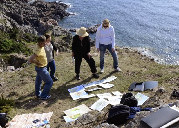 I teach watercolor painting to beginners and continuers at Folkuniversitetet. We are usually in our studio in the center of Lund but occasionally we have done some field sketching outdoors.