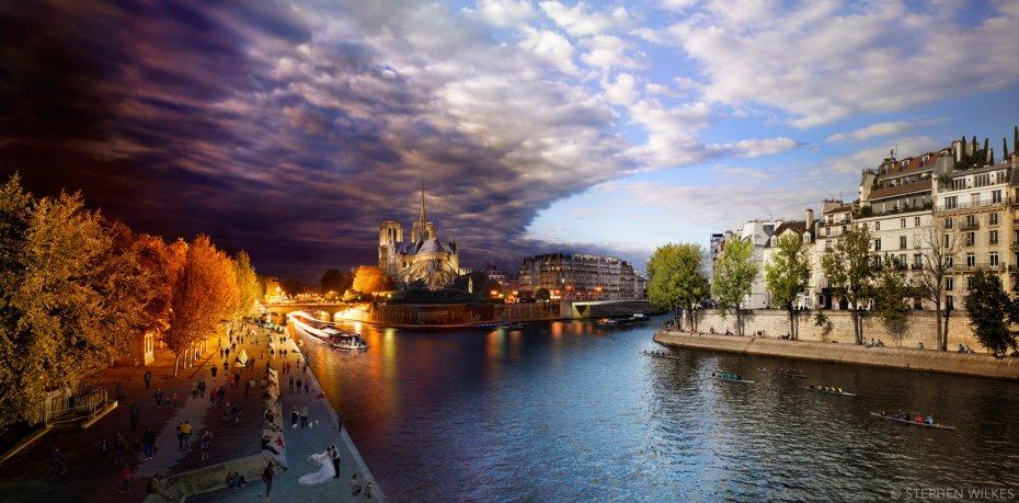Pont de la Tournelle, Paris © Stephen Wilkes