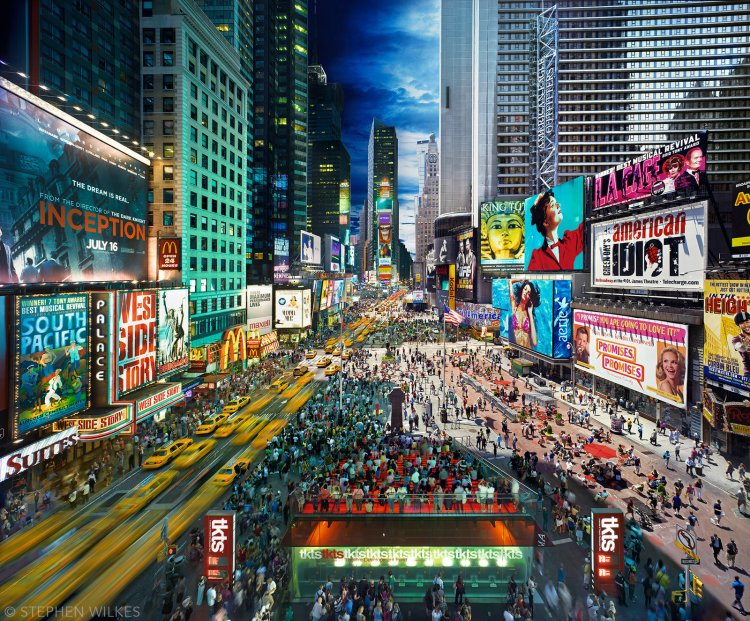 Times Square, NYC, Day to Night, 2010. Courtesy of Stephen Wilkes. © Stephen Wilkes