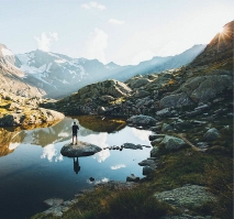Sunset in the Stubai Alps © Jannik Obenhoff