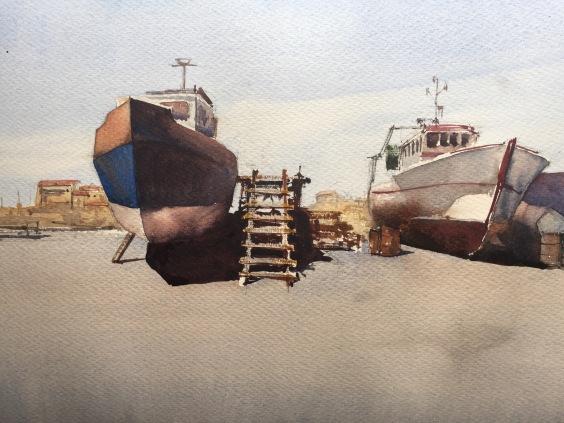 Quiet day at the docks, La Cotinière, France